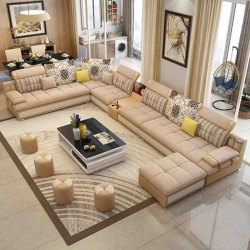 Wooden,MS & SS Modern Designer Sofa Set, For Home, Hall
