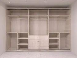 Candor Furniture Wooden Wardrobe Almirah, Size: 235x273 Cm