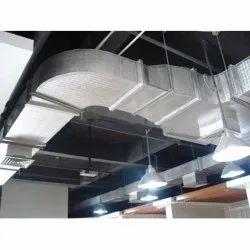 Metallic Grey Aluminium Ducting Service, Mounting: Roof Mount