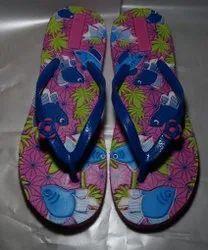Eva Rubber Flats & Sandals ANS Lite Blue Strap Daily Wear Ladies Slipper