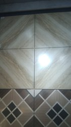 Gloss Square Designer Ceramic Bathroom Tiles, 600 mm x 600 mm