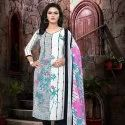 Low Range Leon Printed Churidar Dress Material -12 Pcs Set