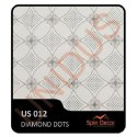 PVC Plastic Ceiling Tiles Diamond Dots US012