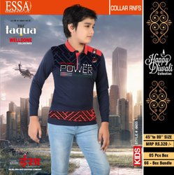 ESSA Taqua Casual Wear Kids Stylish Printed Cotton T Shirt, Size: 18-32 inch
