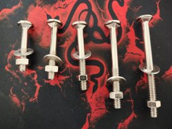 Round Carriage Bolt, For Construction, Material Grade: Iron / MS