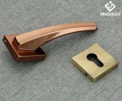 Quality Brushed Gold Modern Zinc Door Lever Handles-55