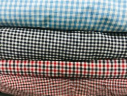 Cotton/Linen Casual Pure Cotton Checks Shirt Fabrics, For Garments, Handwash