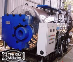 HIBACHI Oil & Gas Fired Fire Tube Boiler, Working Pressure: 10-15 kg/Sq.cm.g, Capacity: 1000-2000 kg/hr