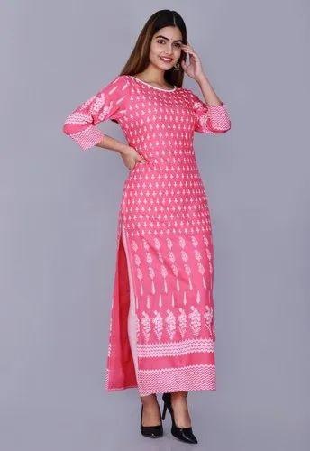 Rayon Printed Long Kurti