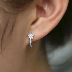Ladies Diamond Earrning Loops