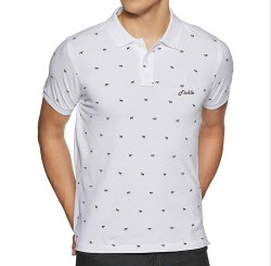 Cotton Printed Mens White And Black T Shirt, Size: S-XXL