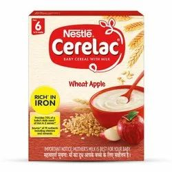 Nestle Milk Wheat Apple Baby Cereal, High in Protein