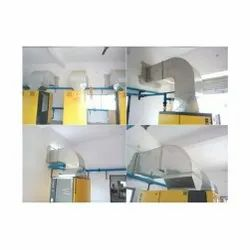 Square Compressor Exhaust Ducting Work