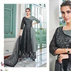 Muslin Readymade Salwar Suit -6 Pcs Set