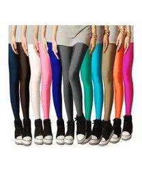 Satin Ladies Plain Leggings, Size: Free Size