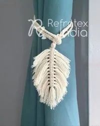 Macrame Leaf Design Curtain Tie Back