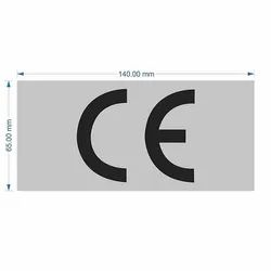 Good Quality Mark Sign Sticker of CE (140mm x 65mm)
