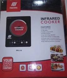 Black 2000 W Poweronic Infrared Cooker, For Cooking, Size: Regular