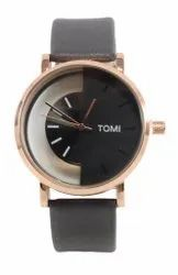 Tomi Transparent Multicolor Dial Analog Leather Strap Watch for Men & Boys
