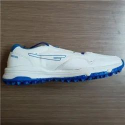 White, Blue Sega Booster Cricket Shoes