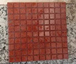 Polished Lakha Red Granite Tile, For Flooring, Thickness: 15-20 mm