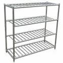 "Srisakthiinnovations Silver Stainless Steel Pot Storage Rack, Size: 36"" X 24"" X 60"""