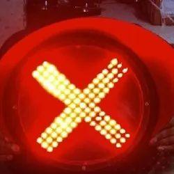 Red Cross LED Traffic Signal Light
