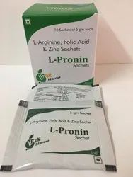 L-Arginine Folic Acid And Zinc Sachets