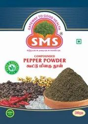 SMS Black Color Compounded Pepper Powder, Packaging Type: Packet, Packaging Size: 500g