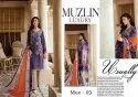 Muzlin Luxury Stylish Printed Designs Salwar Suits Catalog