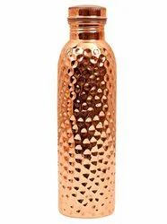Hammered Copper Water Bottle 1 Litre