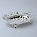 Intricate Border Oval Silver Bowl (Small)