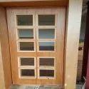 Wood & Glass Polished Stylish Maharaja Wooden Door