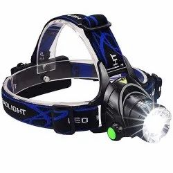 Rechargeable Head Torch Light & LED Lamp Flashlight Headlamp & Bright Camping Night Light Torch