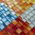 Sisa Wall Cladding Crystal Matt Finish Glass Mosaic Tile, Size: 23 X 23 X 8 Mm