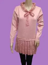 Full Sleeves Pink Ladies Party Wear Fancy Top