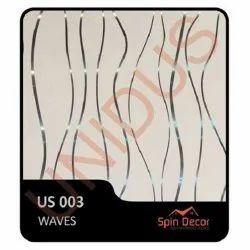 PVC Plastic Ceiling Tiles Waves US003