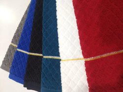 Multicolor DIVINE OVERSEAS Cotton Hand Towel 400 GSM (Set Of 6, Black), Size: 15