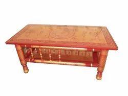 18*24 Inch Brown Teak Wood Modern Center Table(Sankheda)
