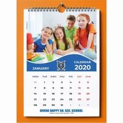 Paper Wall Calendar Printing Services, in Pan India, Dimension / Size: 14 X 19 Inch