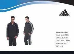 Polyester Full Sleeves Adidas Black Tracksuit, Model Name/Number: B47003