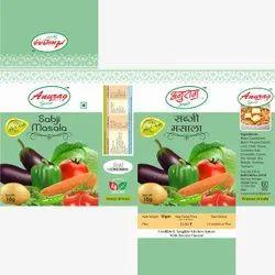 Anurag Spices Sabji Masala, Packaging Size: 10 g, Packaging Type: Packet