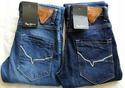 Zipper Blue Mens Denim Jeans