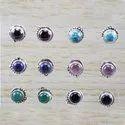 Turquoise Gemstone Handmade Jewelry 925 Silver Earring Stud