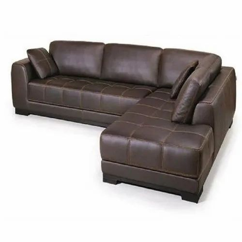 Brown Leather L Shaped Sofa Set For, L Shape Sofas Leather