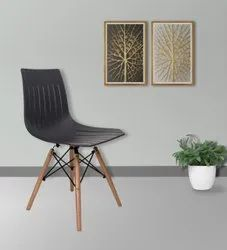Wood and polyprolin cafe chair