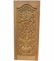 Brown Designer Sagwan Wood Door