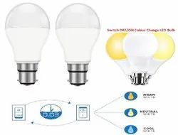 9 Colour Changing 3 In 1 Color LED Bulb, For Indoor