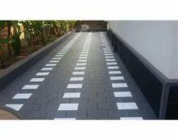 White And Black Paris Rock Tiles, For Flooring