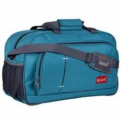Blue Polyester Travel Luggage Duffel Bag